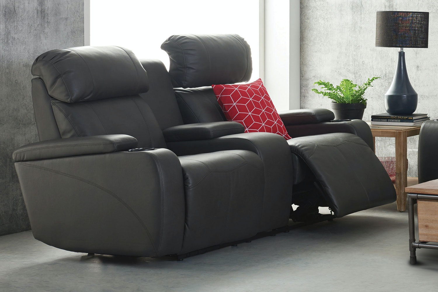 Ergo 2 Seater Fabric Theatre Sofa by Synargy