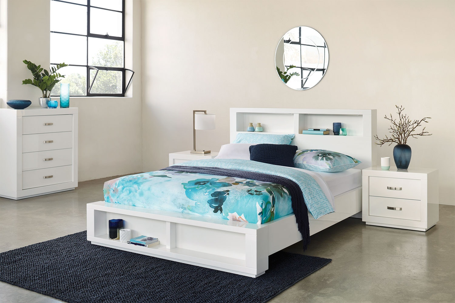 Summit Queen Bookend Bed Frame by Stoke Furniture