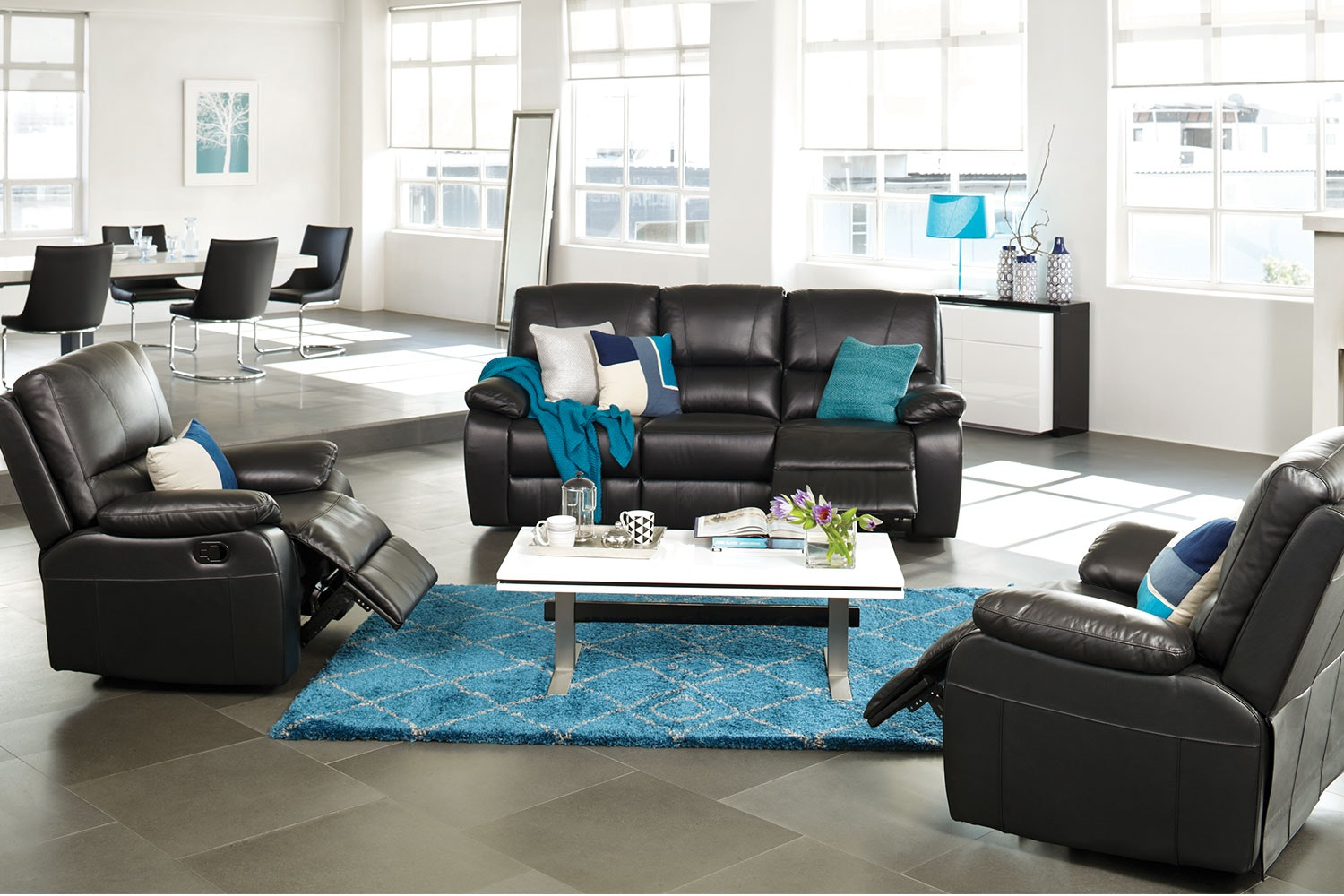 Angelina 3 Piece Leather Recliner Lounge Suite & Angelina 3 Piece Leather Recliner Lounge Suite | Harvey Norman New ... islam-shia.org
