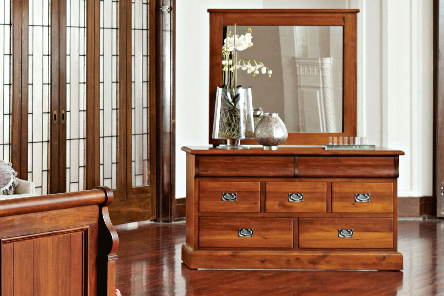 Clevedon 7 Drawer Dresser With Mirror By Woods