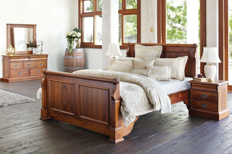 Clevedon 4 Piece Queen Dresser And Mirror Bedroom Suite By Woods