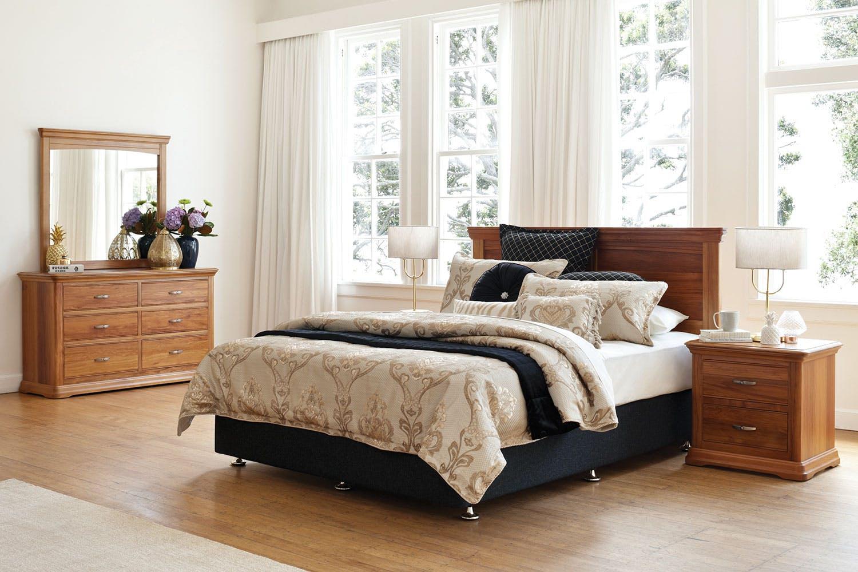 New Zealand RimuOpera 4 Piece Headboard Suite by Sorensen Furniture   Harvey  . Good Quality Bedroom Furniture Nz. Home Design Ideas
