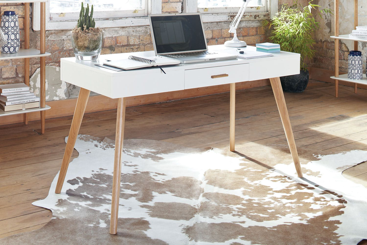 Stuka Home Office Desk With Drawer By Paulack Furniture Harvey Norman New Zealand