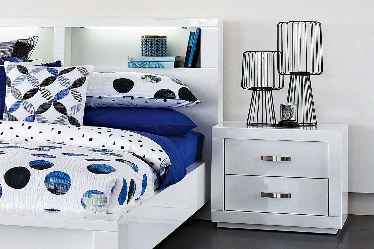 White Bedside Table. Summit Bedside Table by Stoke Furniture   Harvey Norman New Zealand