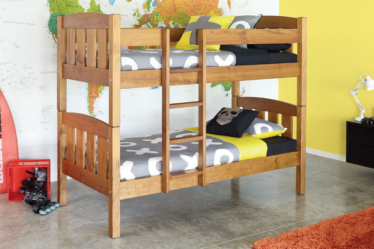 Single Bunk Bed Frame Beds With Mattresses Pine Furniture