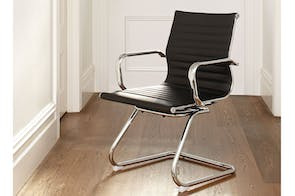 Line Office Chair by TGV - Black with fixed loop leg