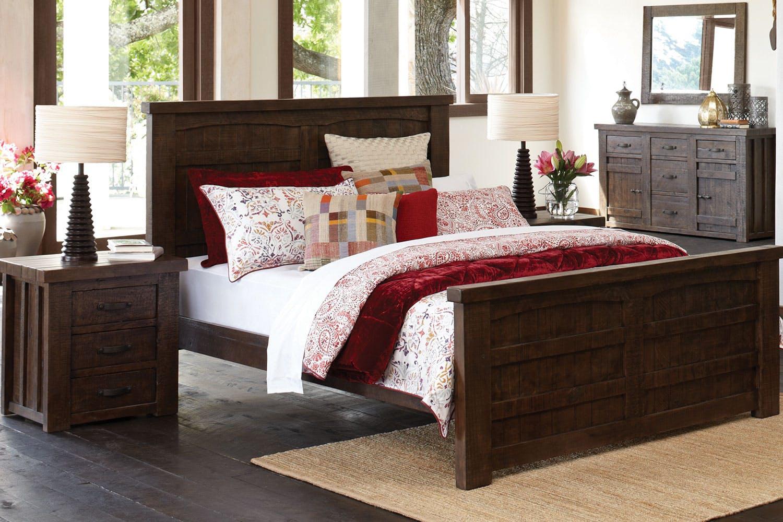 Barnyard 4 Piece Bedroom Suite With Dresser And Mirror By Debonaire Furniture