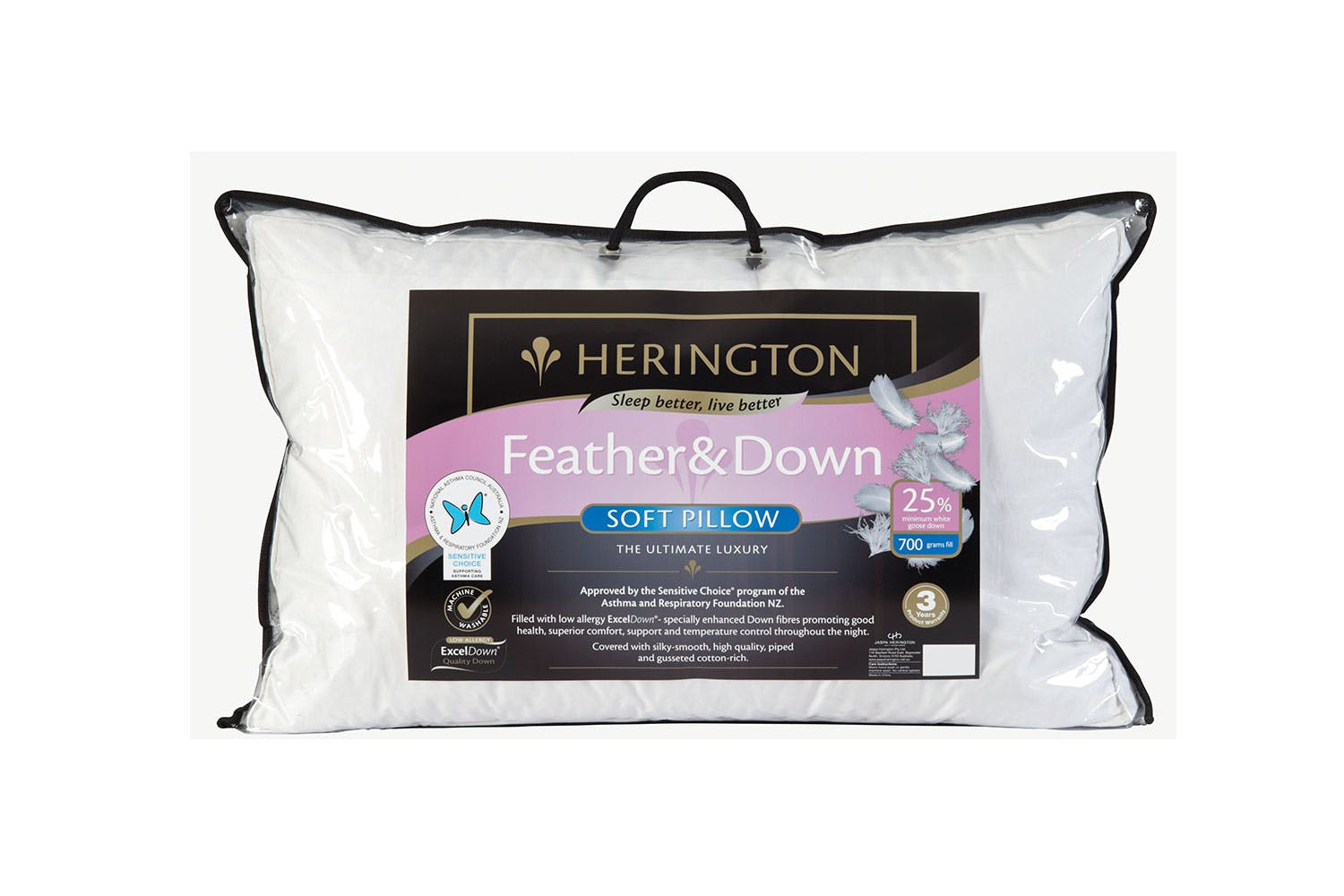 Image of Down and Feather Pillow - Soft - Herington