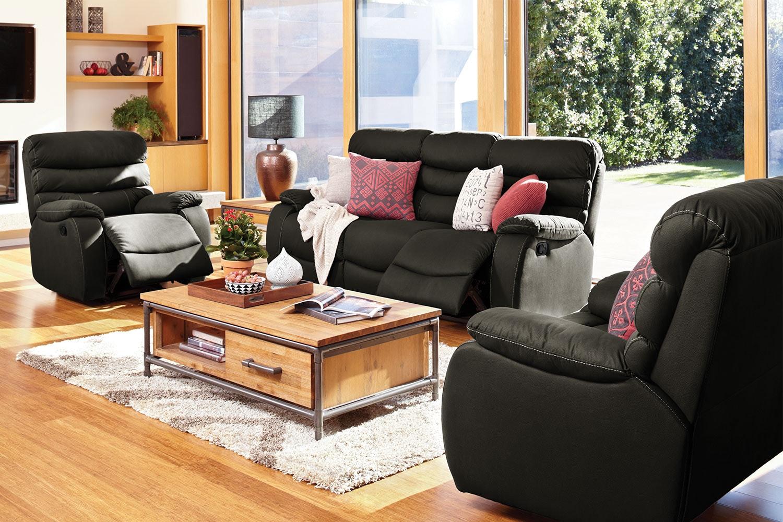Bon Fletcher 3 Piece Fabric Recliner Lounge Suite By John Young Furniture    Harvey Norman New Zealand