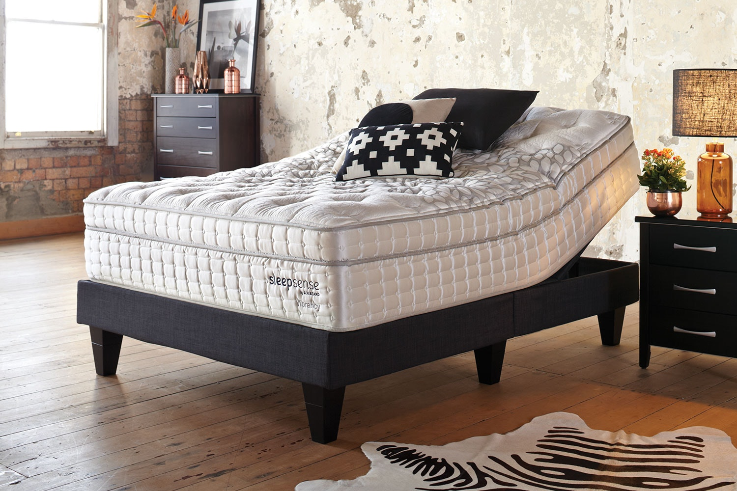 Vibrancy Queen Mattress with Genius Adjustable Base by Sleepsense