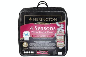 4 Seasons White Goose Down Combination Duvet Inner by Herington