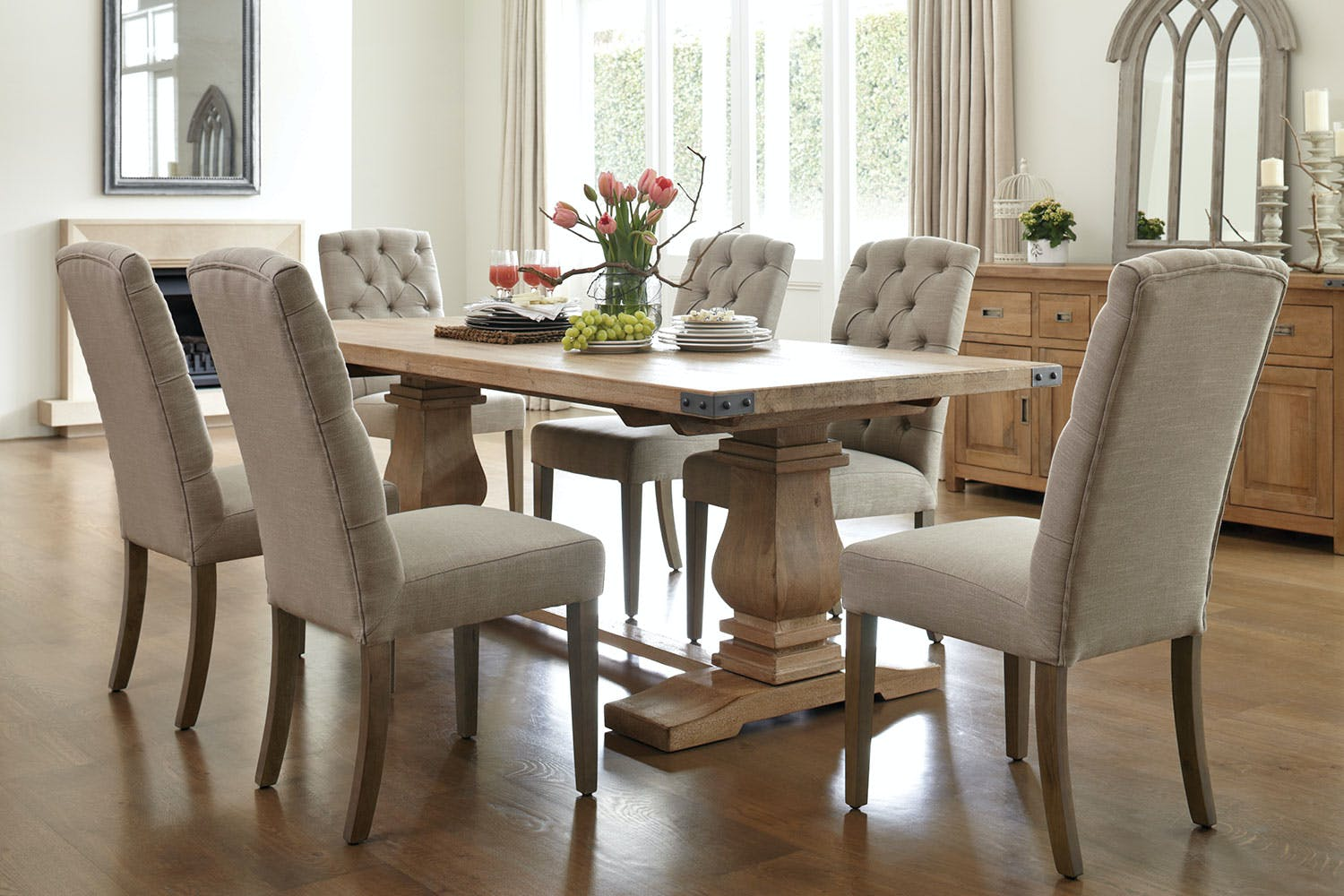 Utah 7 piece dining suite by vivin harvey norman new zealand for Dining room suites images