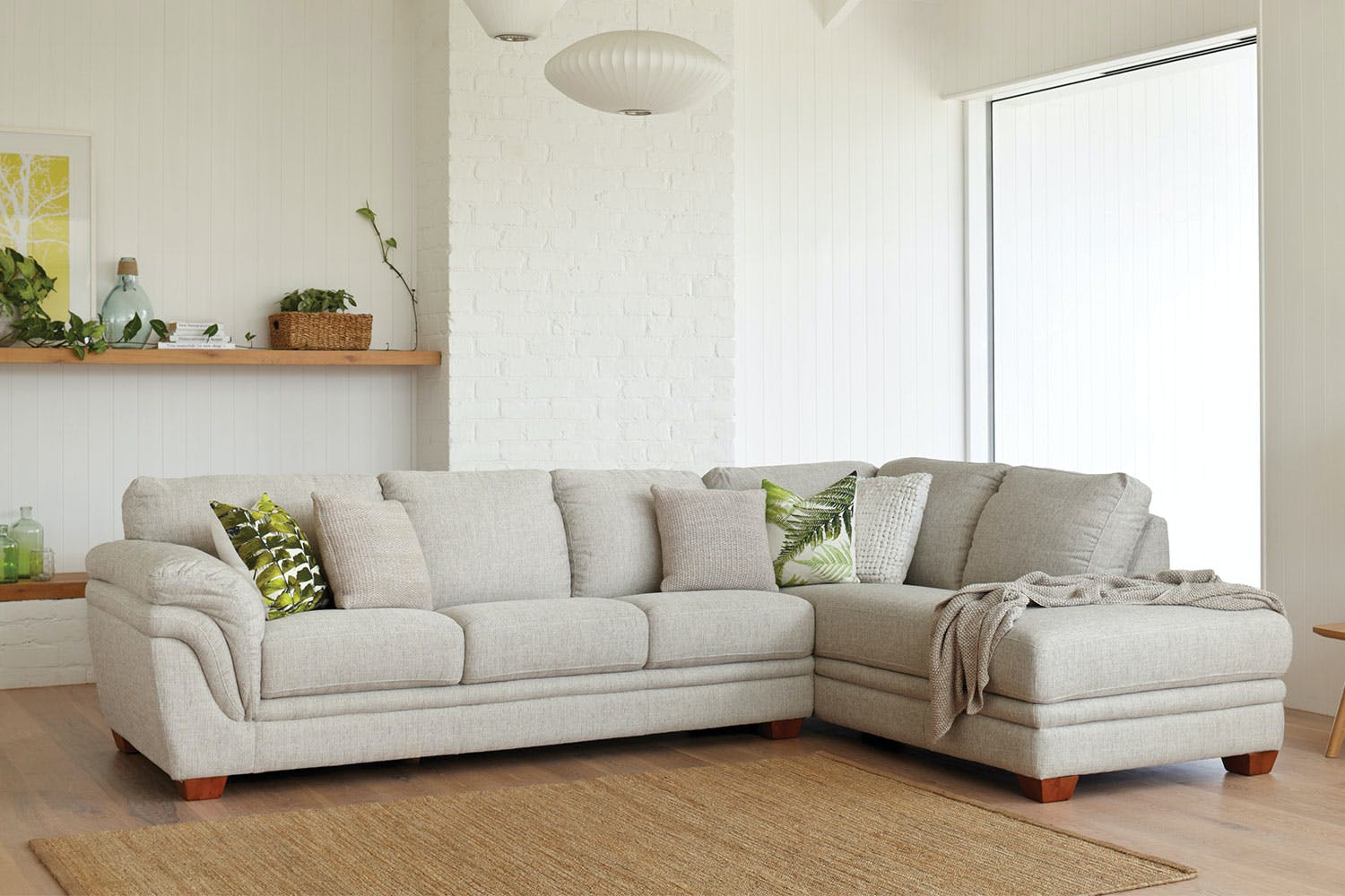 Tremendous Demi 3 Seater Fabric Sofa With Chaise By La Z Boy Bralicious Painted Fabric Chair Ideas Braliciousco