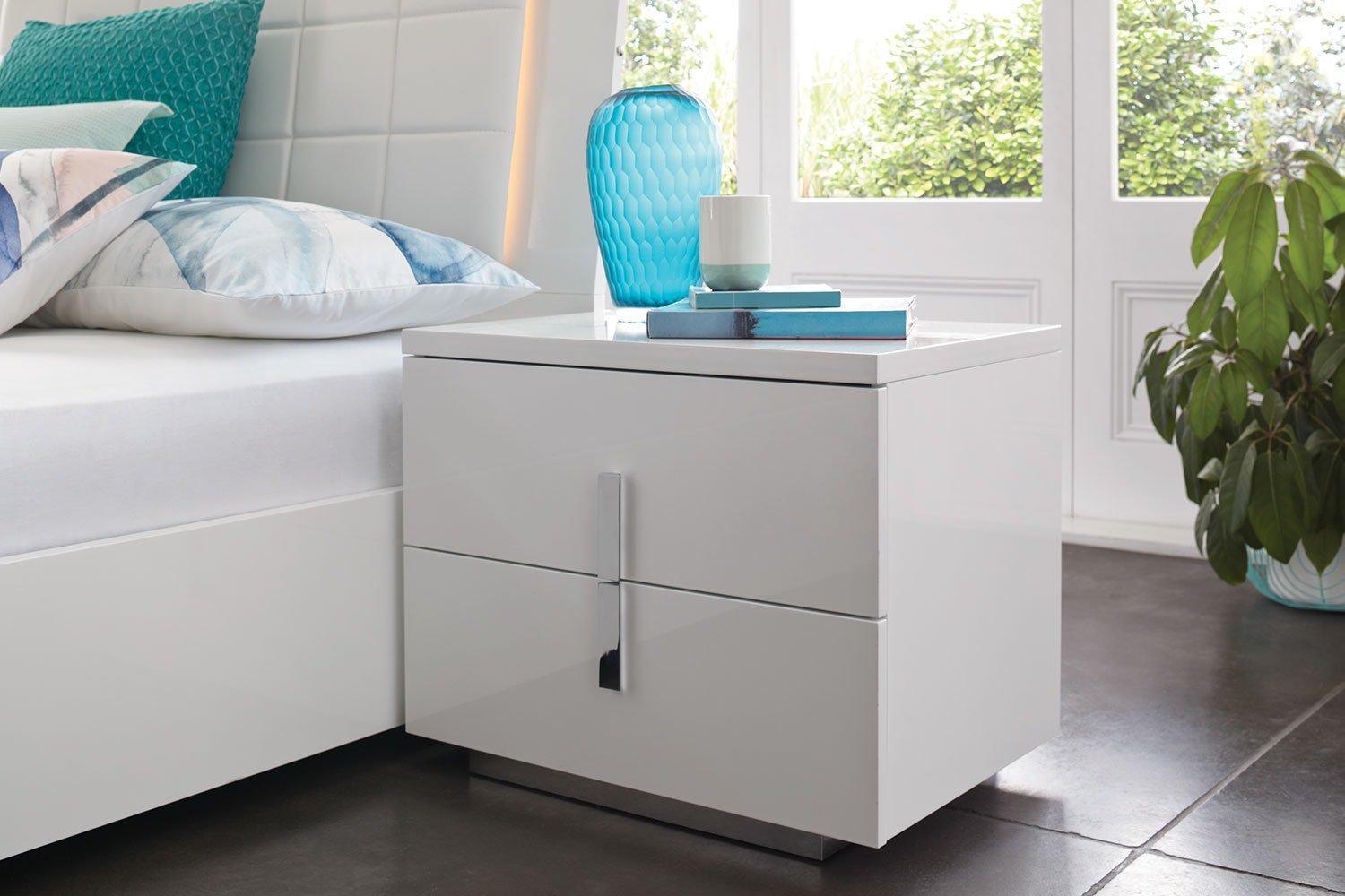 Quadro 2 Drawer Bedside Table by Insato Furniture
