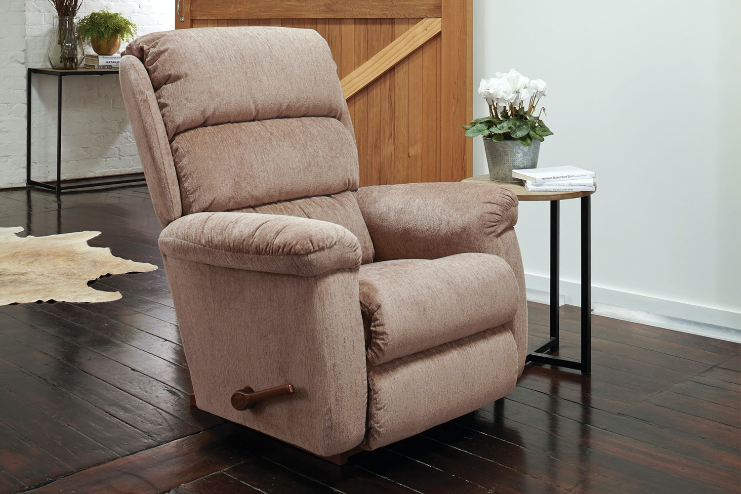 Rapids Fabric La-Z-Boy Large Recliner - Raisin - Morgan Imports