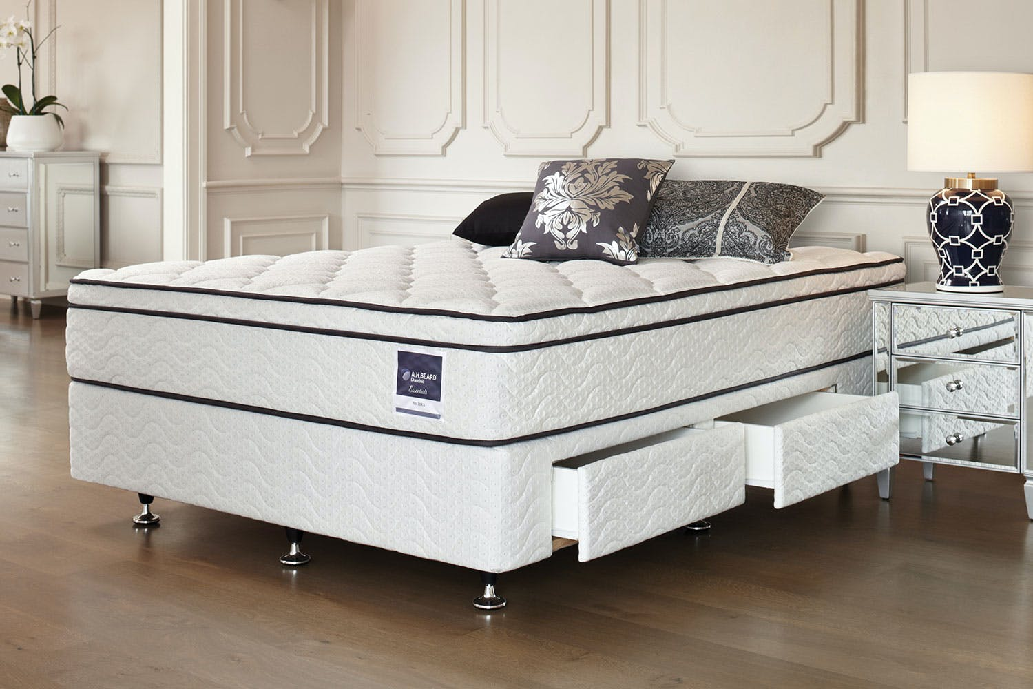 Sierra Queen Bed with Drawer Base by A.H. Beard | Harvey Norman New ...