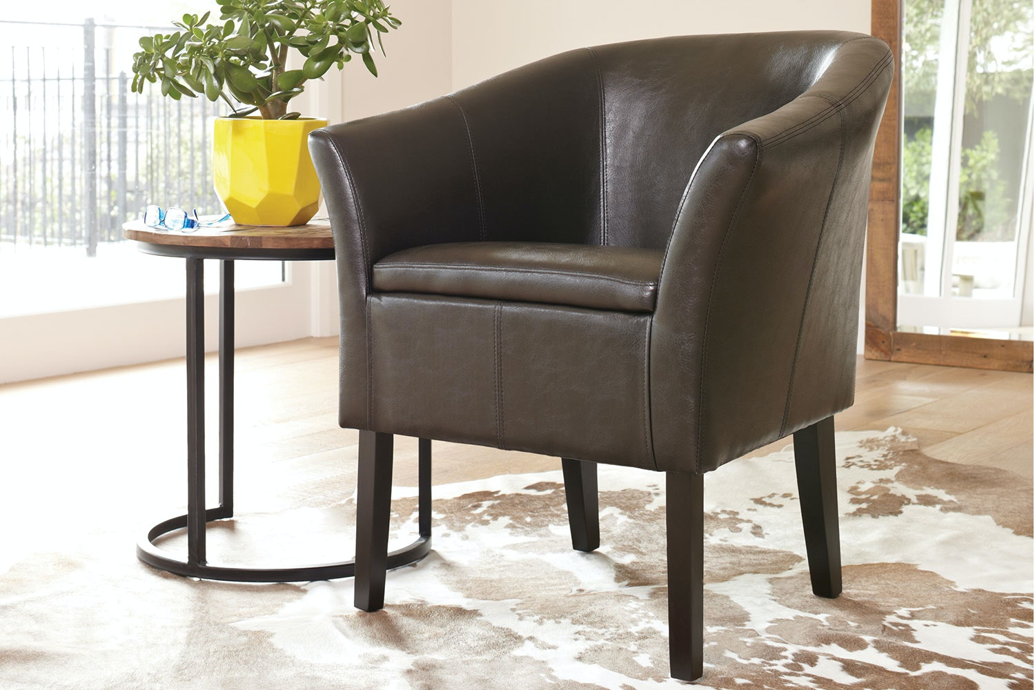 Brown Aria Tub Chair by Nero Furniture
