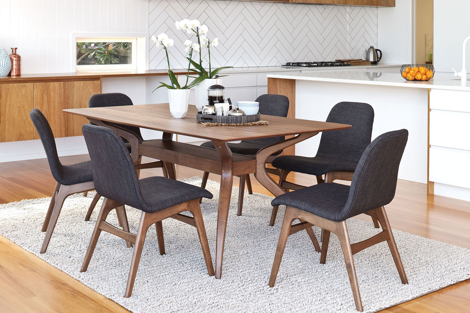Delightful Embrace 7 Piece Wood Dining Suite By Nero Furniture ...