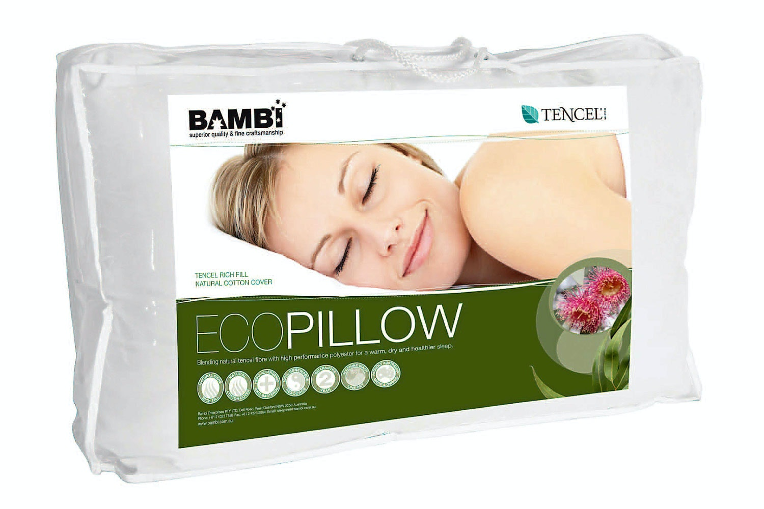 Bambi Eco Tencel Blend Firm Pillow