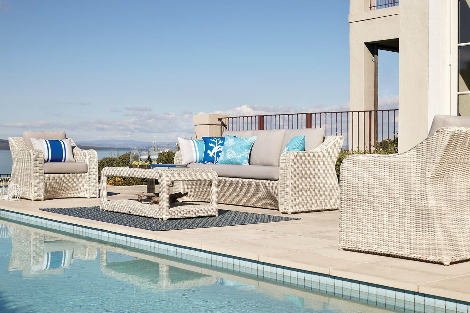 Sicily 4 piece outdoor lounge setting harvey norman new zealand