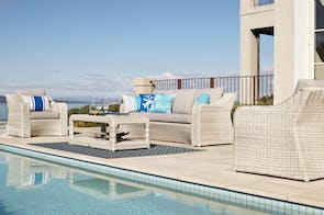 Sicily 4 Piece Outdoor Lounge Setting