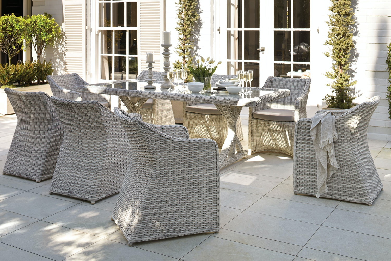 Sicily 9 Piece Outdoor Dining Setting Part 75