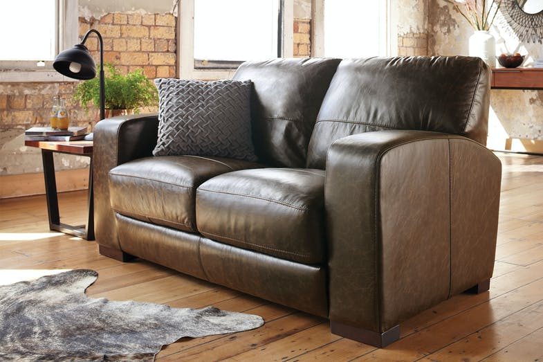 Caprizi 2 Seater Leather Sofa By Debonaire Furniture