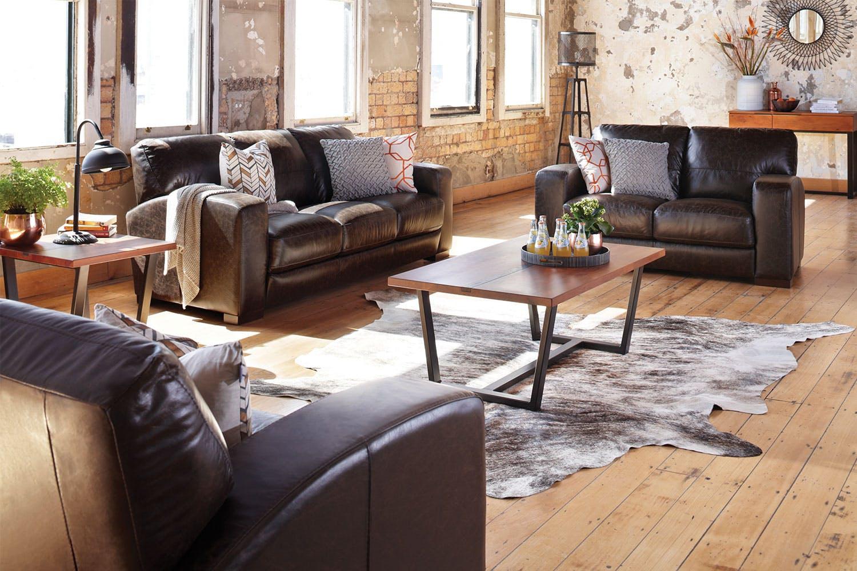 Caprizi 3 Piece Leather Lounge Suite by Debonaire ...