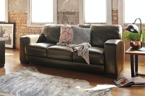 Caprizi 3 Seater Leather Sofa by Debonaire Furniture