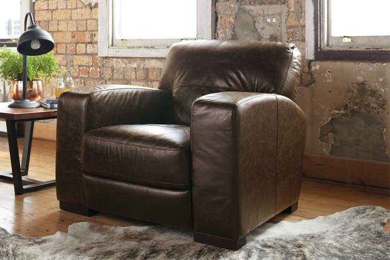 Caprizi Leather Armchair by Debonaire Furniture | Harvey ...