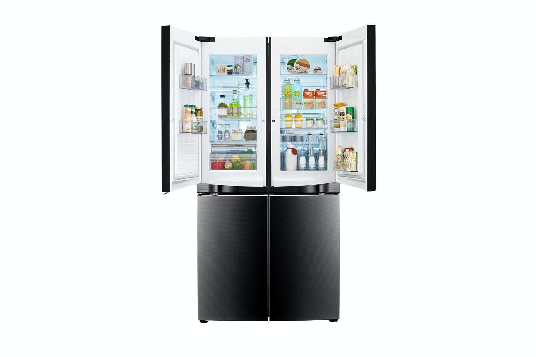 lg french door refrigerator freezer. lg 725l french door fridge freezer - black mirror glass lg refrigerator