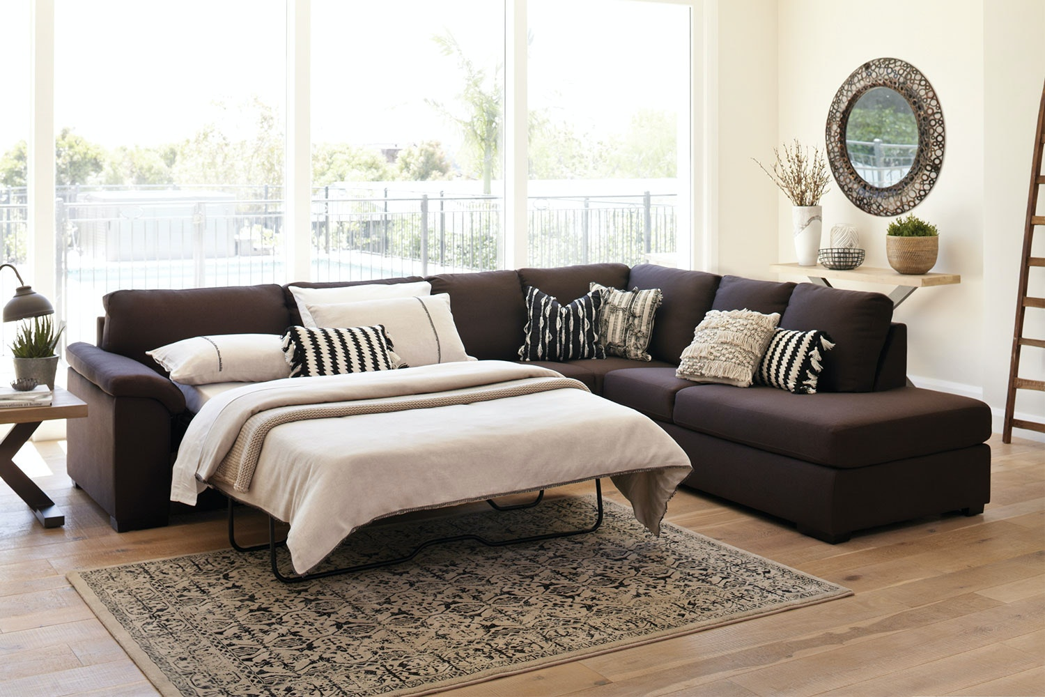 Galaxy Corner Chaise Sofa Bed and Ottoman : corner chaise sofa - Sectionals, Sofas & Couches
