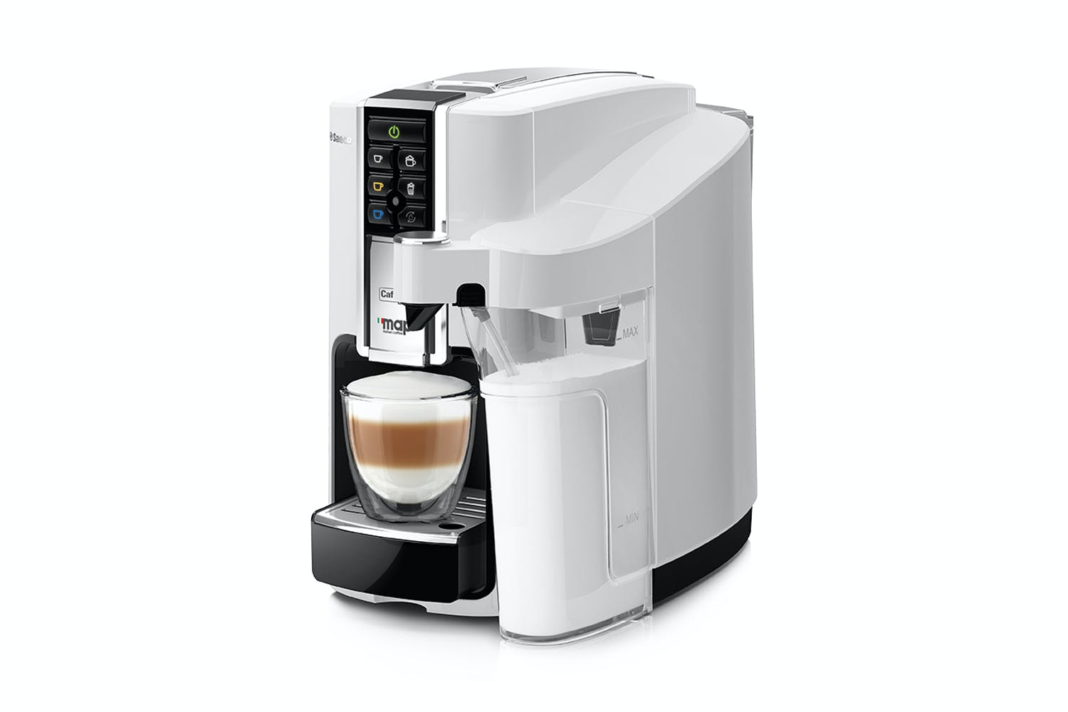 Electronic Map Capsule Coffee Machine coffee machines beans breville machine harvey map bravista latte capsule white