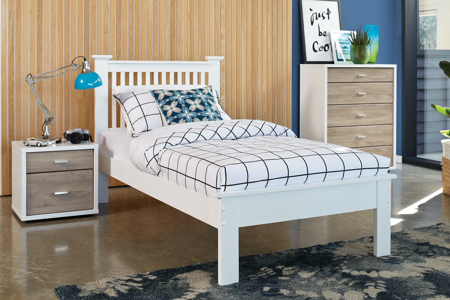 Single bed frame -  Aston King Single Bed Frame By Nero Furniture