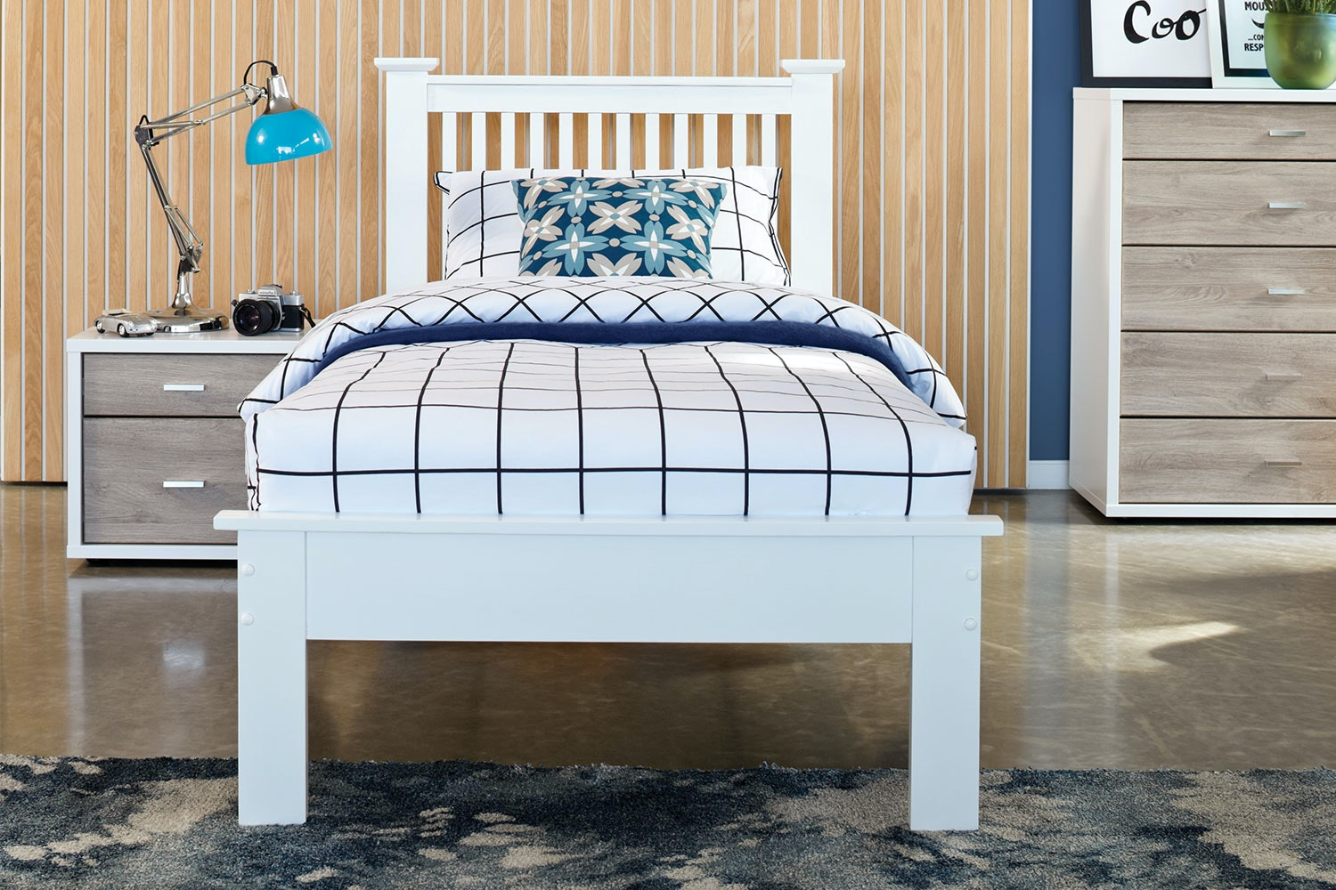 Aston King Single Bed Frame by Nero Furniture