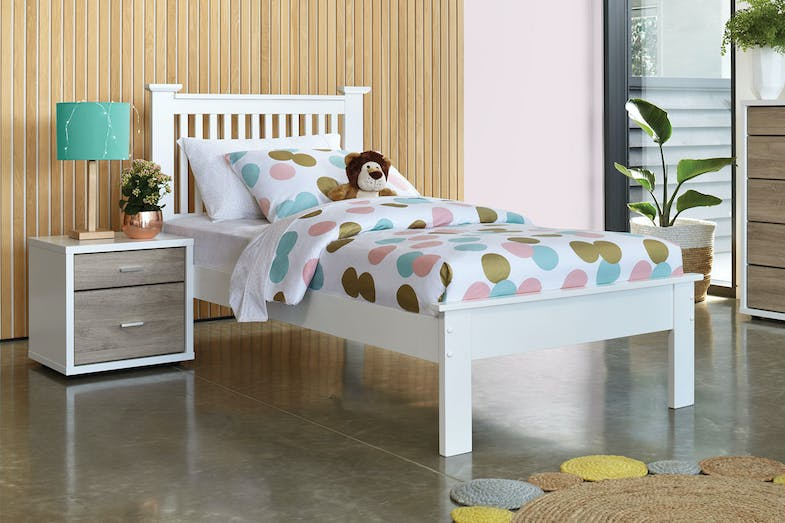 King single daybed nz : Aston king single bed frame by nero furniture harvey