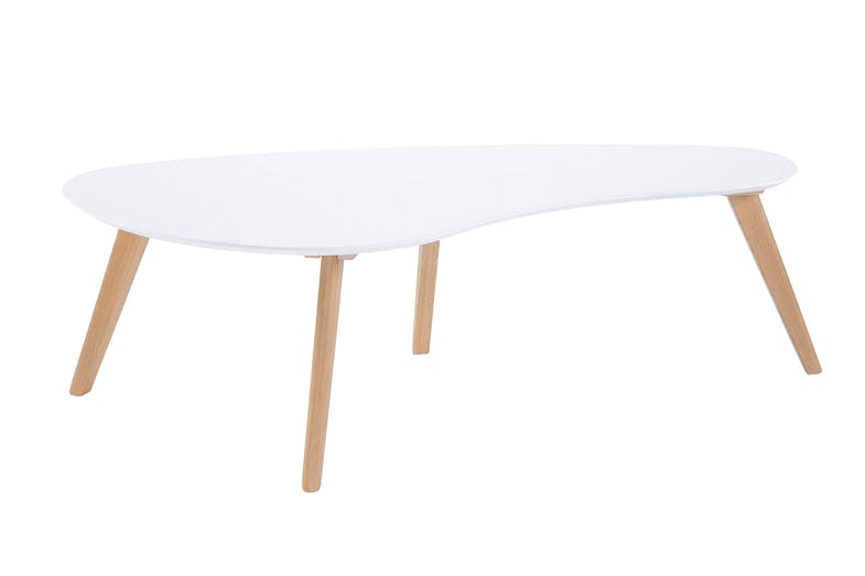 White Clare Curved Coffee Table by Nero Furniture