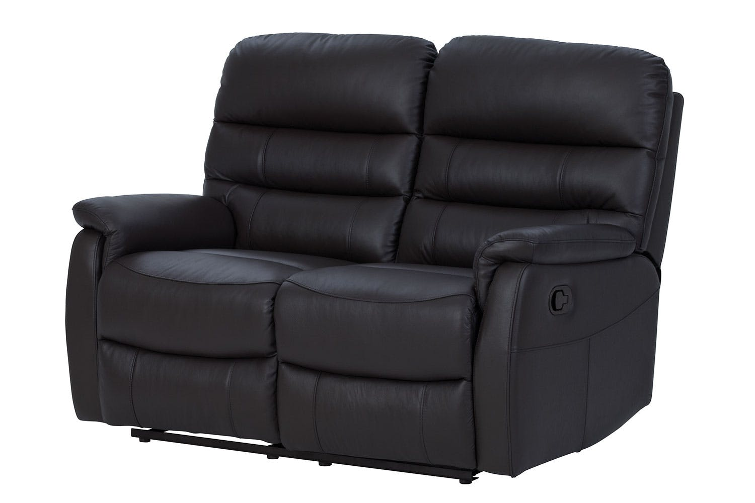 Luna 2 Seater Leather Recliner Sofa by Vivin