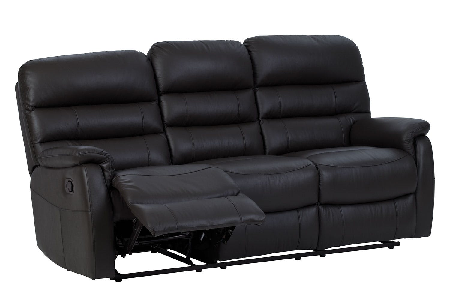 Luna 3 Seater Leather Recliner Sofa by Vivin