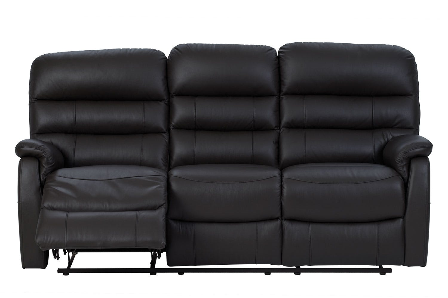 Luna 3 Seater Leather Recliner Sofa By