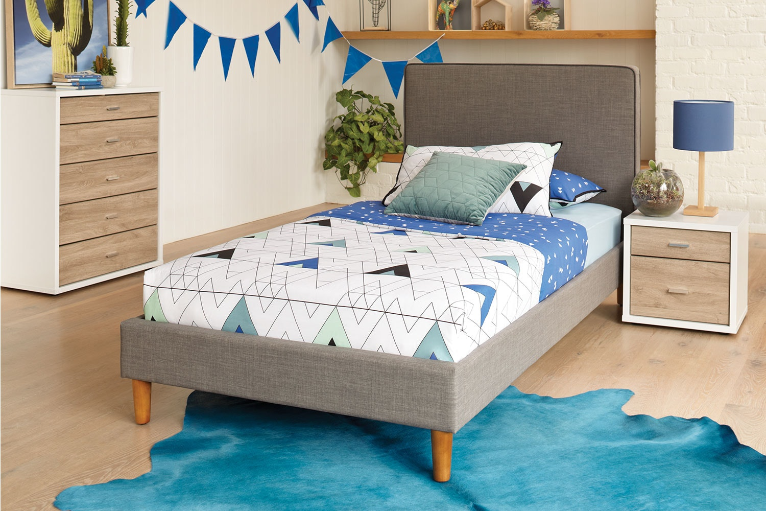 Jesse King Single Bed Frame by Stoke Furniture