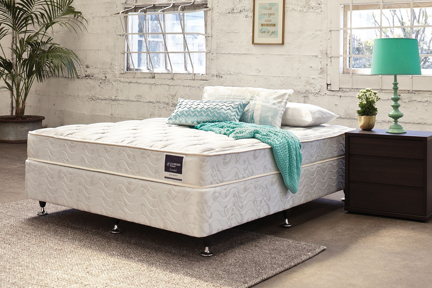 kiwi select queen bed by a h beard harvey norman new zealand
