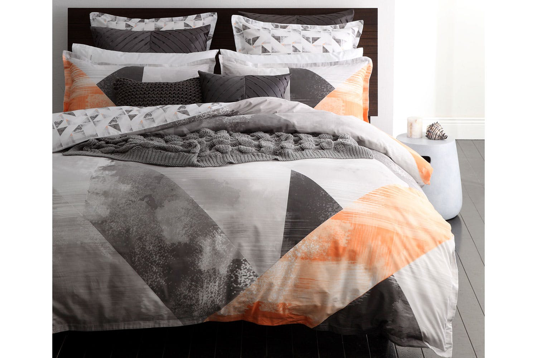 neo orange duvet cover set by logan and mason  harvey norman new  - neo orange duvet cover set by logan and mason
