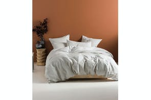 Nimes Linen Grey Duvet Cover Set by Savona