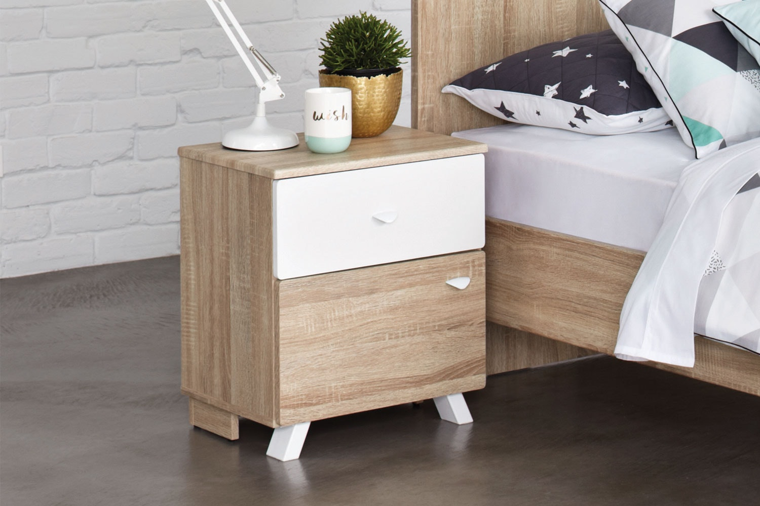 Maali Bedside Table by Stoke Furniture