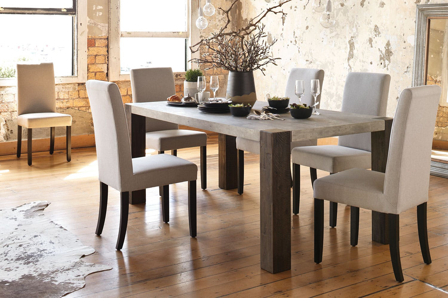 Faro dining table by la z boy harvey norman new zealand for La z boy dining room chairs