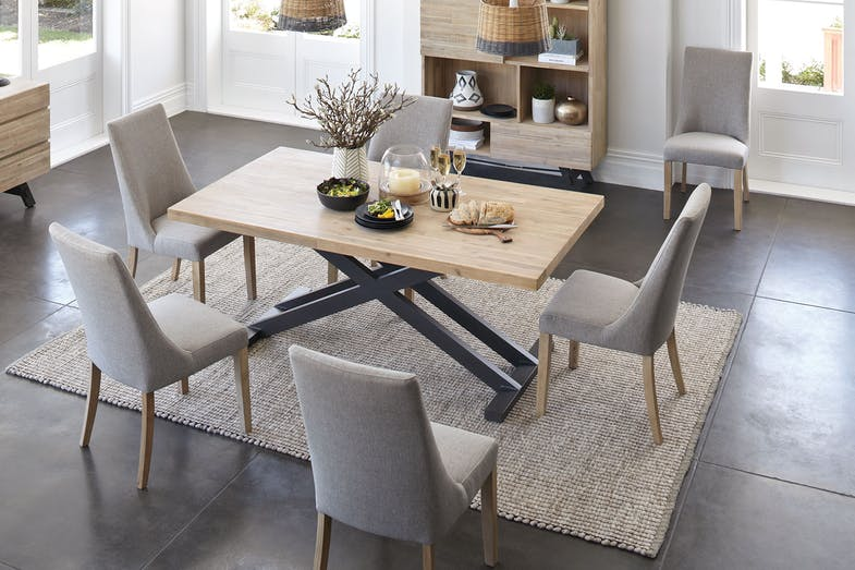 Bari dining table by john young furniture harvey norman