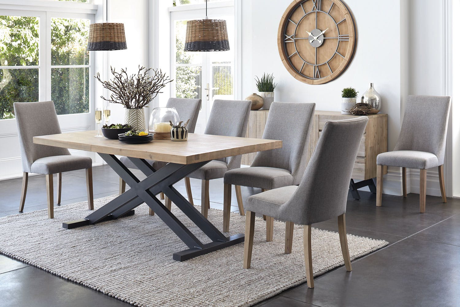 Bari dining table by john young furniture harvey norman for Dining room tables harvey norman
