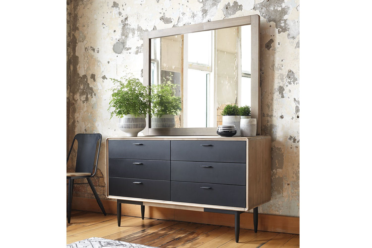 Alba 6 Drawer Dresser And Mirror By John Young Furniture Harvey