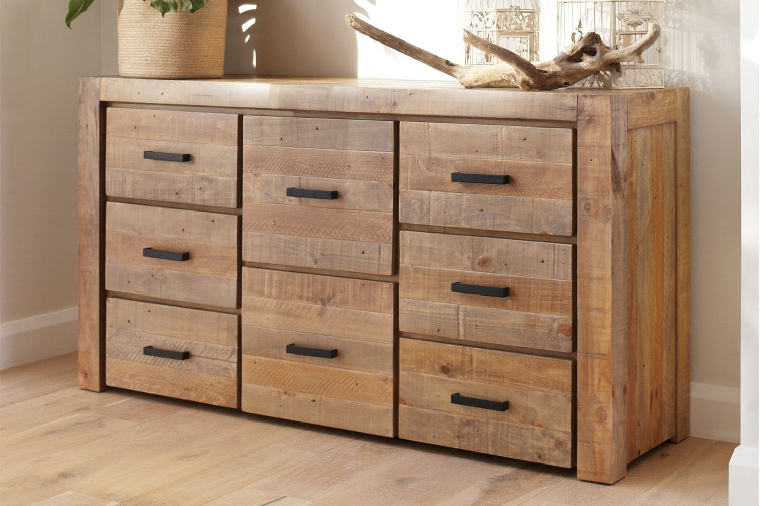 overstock black shipping lowboy home drawer venture finish today garden horizon free nouvelle product dresser